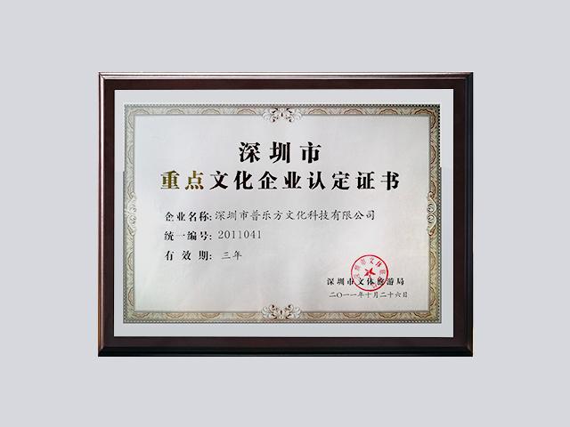2011年深圳市重点文化企业